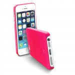 035IPHONE5F Cover trasparente ultrasottile fucsia