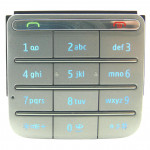 9791M62 Tastiera Latin Silver per Nokia C3 Touch and Type